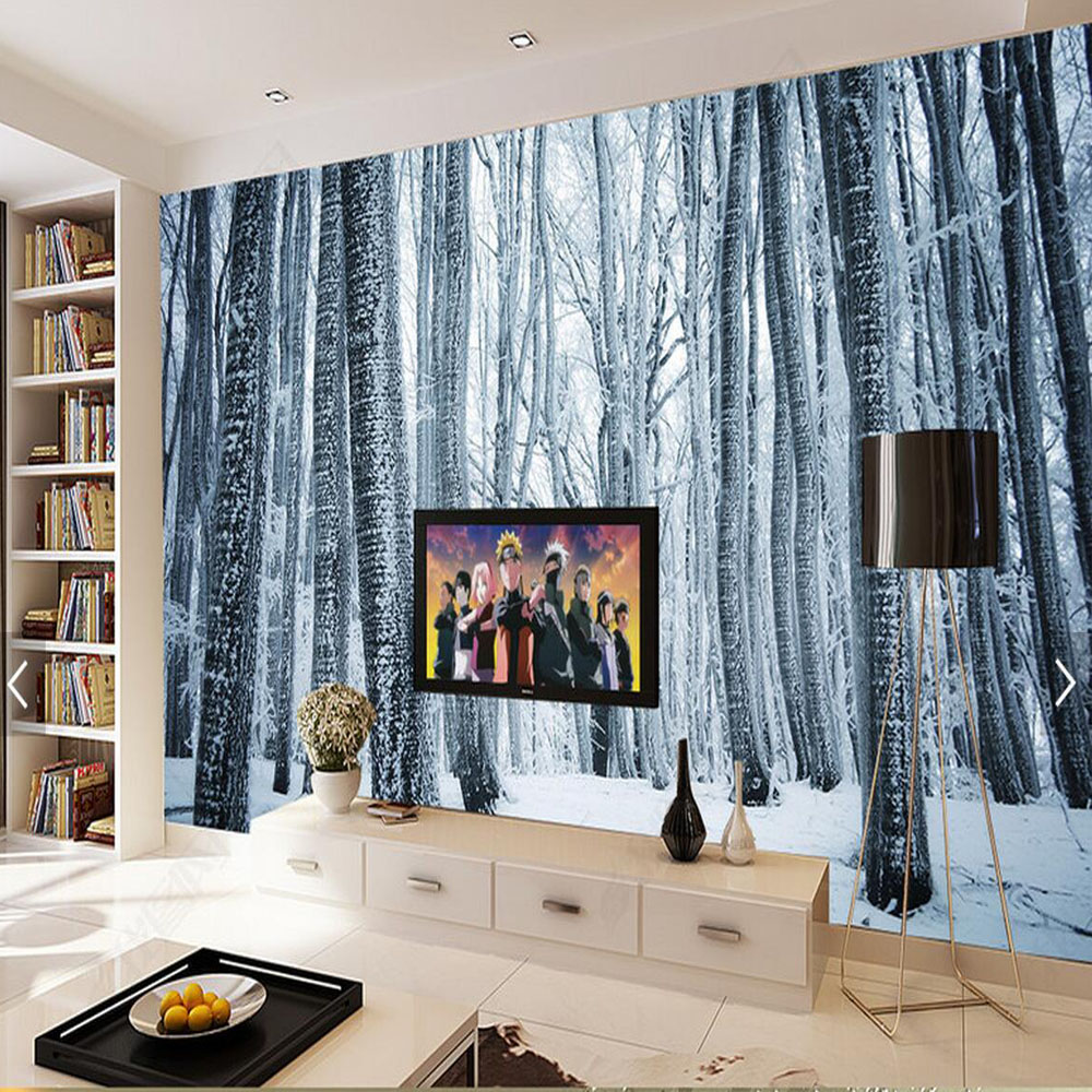 Abstract Photo Wall Mural Tree Snow Landscpe Wallpaper Rolls Living Room TV  Background Wall Decorative Custom Size Wall Paper