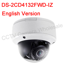 Free shipping English version DS-2CD4132FWD-IZ 3MP 120dB WDR Smart IP Indoor Dome Camera Support 128G POE