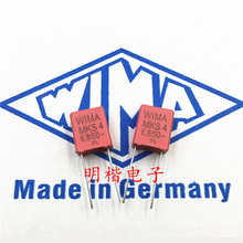 цены 10PCS/30PCS New German capacitor WIMA MKS4 50V 6.8UF 685 6U8 pitch 7.5mm spot FREE SHIPPING