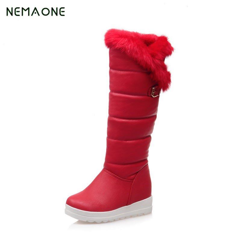 NEMAONE 2017 New Hot Fashion sexy ladies' Platform Boots Women Knee High boots winter women shoes fur warm snow boots nemaone 2017 new snow boots women winter black flat platform ankle boots ladies fur warm australia boots