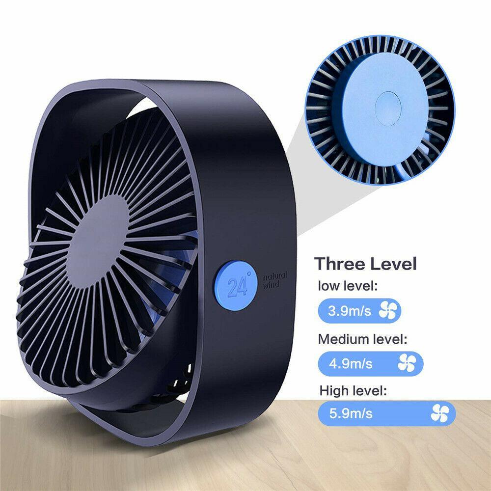 2019 Novo Gadget DSstyles 360 ° Mini Cooling Fan USB Portátil Ventilador de Mesa USB 3 Velocidade para o Escritório de Refrigeração Mini ventilador Do Carro Para Casa