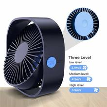 2019 New Gadget DSstyles 360° Mini Cooling USB Fan Portable Desktop 3 Speed for Office Car Home