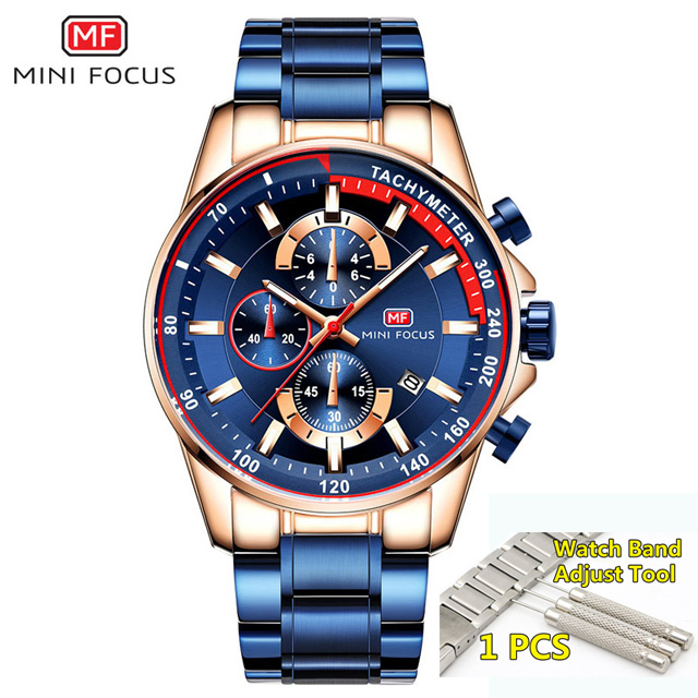 Watches Men 2018 Top Brand Luxury MINI FOCUS Stainless Steel Chronograph Wrist Watch Mens Military Clock men WristWatch Man 2019 | Fotoflaco.net
