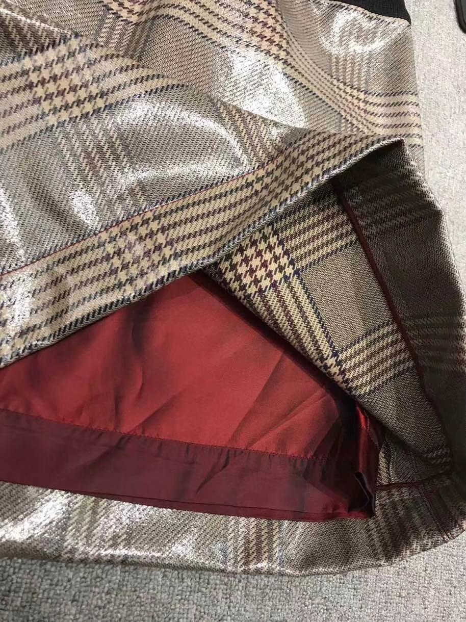 Ropa Casual De Nueva Mujeres Alta Geométrica Dulce Damas Para Cintura Muy Falda Verano 8IOOxfd