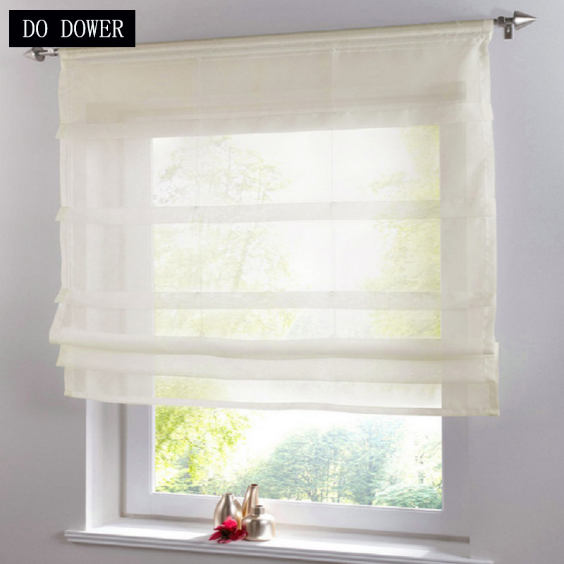Short kitchens Tulle Curtains window treatment Transparent Sheer Solid Color Voile Curtain living room Bedroom corina 3 Colors