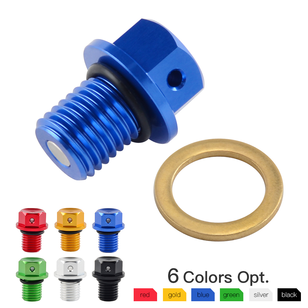 M12xP1.5 Magnetic Oil Drain Plug Bolt Screw For Yamaha YZF-R3 YZF-R25 MT-03 MT-25 YZ250 YZ250X XT250X WR250R WR250X Serow 250