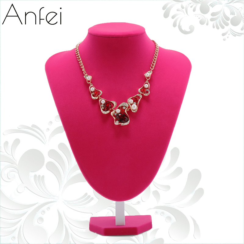 hot pink neck form presention jewelry display bust model