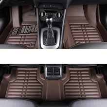 lsrtw2017 leather car floor mat rug carpet for audi q3 2012 2013 2014 2015 2016 2017 2018 2019 rs accessories s line sticker