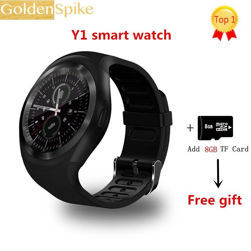 2018 Chaude Y1 Montre Smart Watch 1.54 Écran tactile Fitness Tracker Activité Sommeil Moniteur Podomètre Calories Piste soutien SIM carte solt