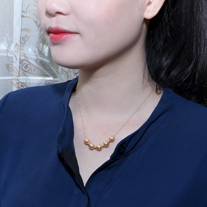 Image 4 - YS 18 k 純金海水養殖 8 9 ミリメートルアコヤ Hanadama 真珠のネックレスネックレス   -