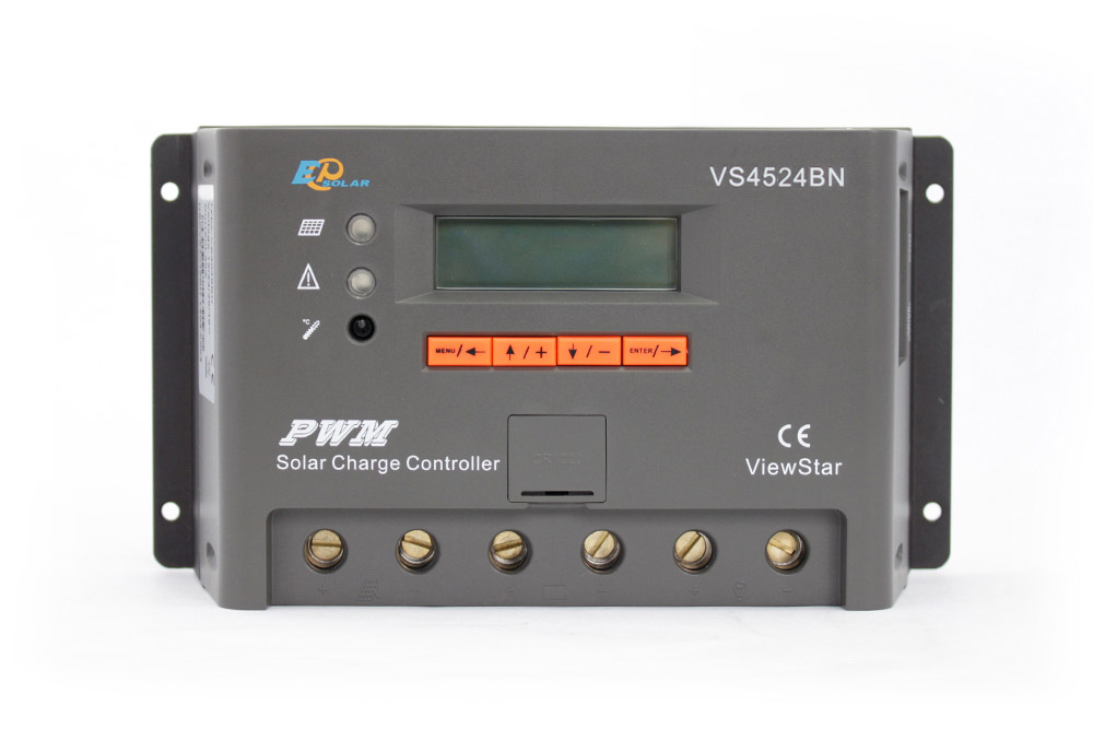 VS4524BN 45A 45amp solar power bank solar charger controller 12v 24v automatic work PWM EPEVER EPSolar Free shipping vs4524bn 45a pwm controller network access computer control can connect with mt50 for communication