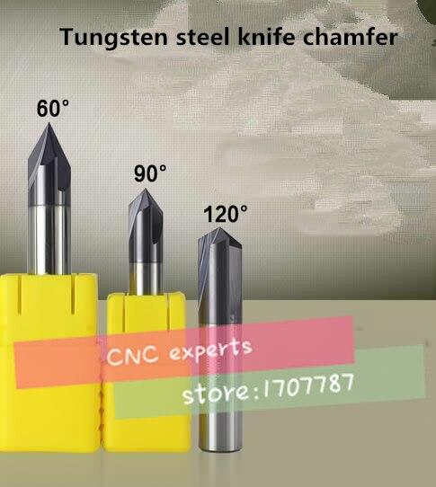 Бесплатная доставка 1 шт. M5/M6 покрытие цементированный карбид 60/90/120 градусов прямоугольный Тип фаски сверло позиционирование по центру