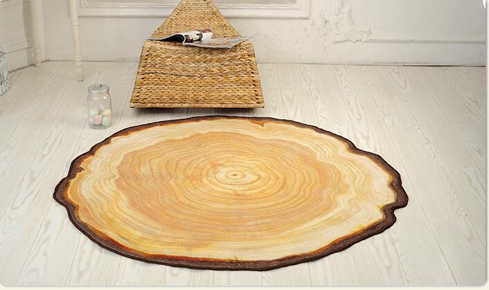 90X100CM Pastora Annual Ring Round 3D Carpet For Bedroom Computer Chair Area Rugs Children Bedroom Play Mat Coffee Table Mat in Carpet from Home Garden