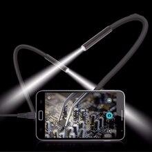 1M 5.5m/7mm obiettivo USB endoscopio fotocamera impermeabile flessibile filo serpente ispezione tubo boroscopio per telefoni Android compatibili OTG