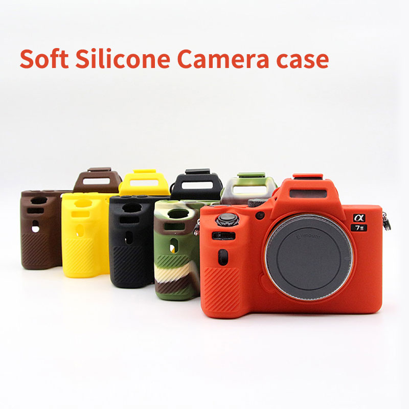 Neue Weiche Silikon kameratasche für Sony A7 II A7II A7R Mark 2 Gummi Kamera schutzhülle Körper Abdeckung Haut