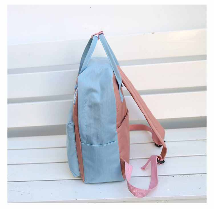 Fashion Woman Backpack College Wind Casual Student Canvas Backpack Girl Trend Wild Small Fresh Shoulder Bag Vitality Backpack