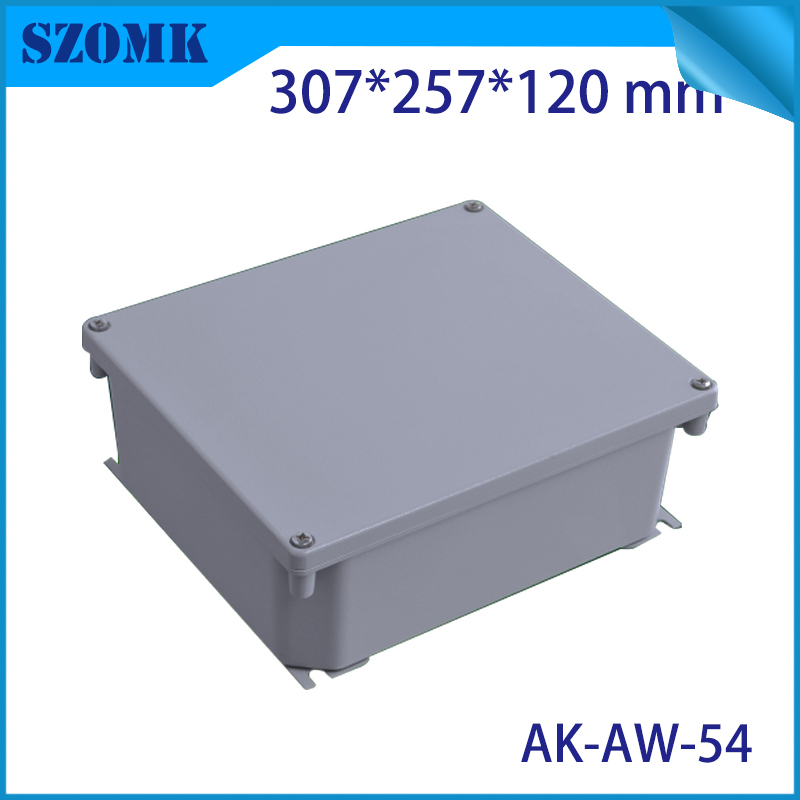 Die Cast Extruded Aluminum Enclosures PCB Instrument Electronic Project Box Aluminum Waterproof Distribution Case 307X257X120MM black extruded aluminum enclosures pcb instrument electronic project box case 100x76x35mm
