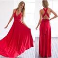 Multiway женской одежды макси платье сексуальный повязку с плеча длинное платье Невесты Кабриолет Платье FS0210