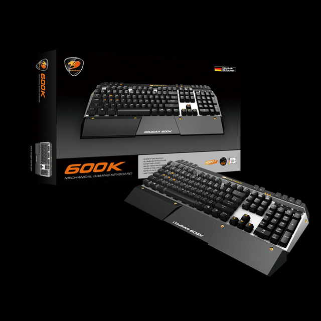 Cougar 600K Professional Gaming Esport Cherry MX Mechanical Keyboard Blue Switch 6 Programmable Keys LED Backlit USB for LOL CF
