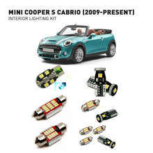 Led interior lights For mini cooper s cabrio 2009+   9pc Led Lights For Cars lighting kit automotive bulbs Canbus цена