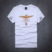 2016 New Summer Style Brand Men Aeronautica Militare Embroidery T Shirt Casual Short Tees O Neck