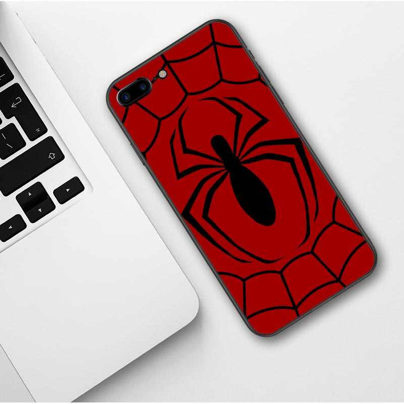 Spider man miles morales Marvel Stampa Molle del silicone TPU Cassa Del Telefono Per iphone XS Max XR X 5 5 s SE 6 6 s Plus 7 7 Plus 8 8 più
