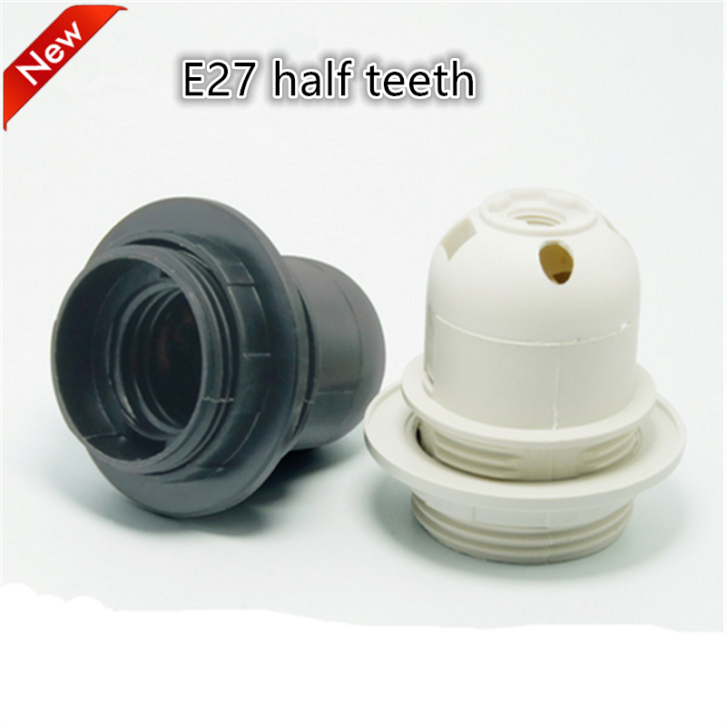 E27 LED Plastic lamp Holder 50pcs/lot E27 Edison screw Light Bulb socket Holder DIY E27 socket base Free Shipping
