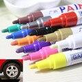 Bolígrafo impermeable colorido neumático de coche rodadura CD Metal marcadores de pintura permanente Graffiti rotulador graso marcador caneta papelería