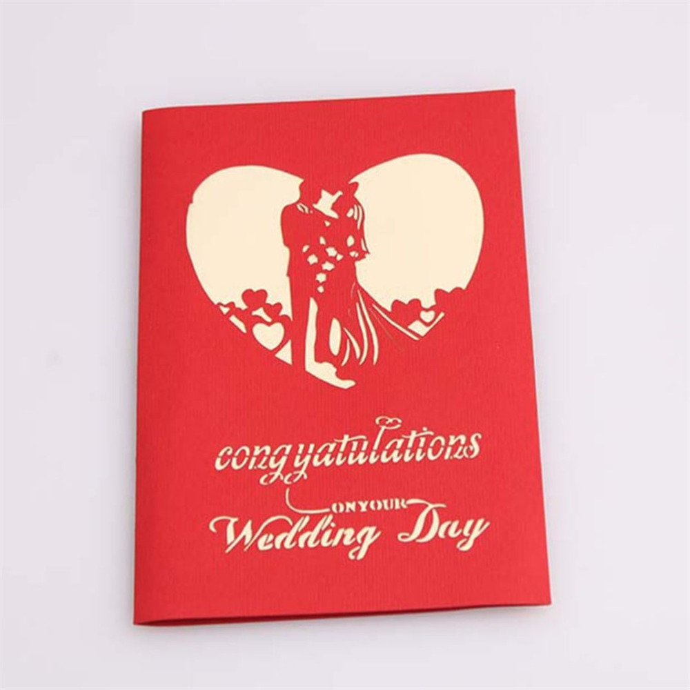 New Creative Sweety Wedding Greeting Kirigami Card 3D Pop Up Paper ...