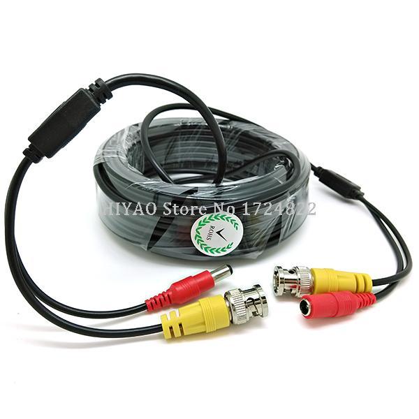 Haute qualité 30 mètres BNC vidéo puissance siamois câble pour Surveillance CCTV caméra accessoires DVR Kit livraison gratuite