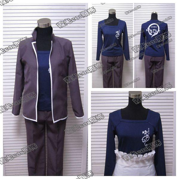 Anime Shokugeki no Soma Yukihira Souma Cosplay Costume Uniform Coat+shirt+pants+apron+kerchief Free Shipping
