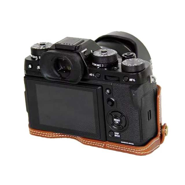 US $8 96 20% OFF|New Pu Leather Camera Case Half Body For FujiFilm XT2 XT3  FUJI X T2 X T3 Camera bottom cover-in Camera/Video Bags from Consumer