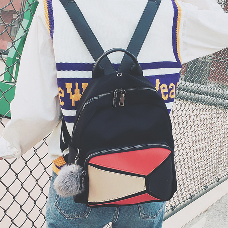 19c8303147 2018 PU Leather Backpack with hair ball Women Mochila Travel Backpacks  School Bags For Girls Mini Backpack bolsas femininas