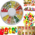 Hot Sales Fashion Fruit slices Nail Art Decoration Decal Accessories Tip Glitter Sticker Nail Art Fimo Stickers 12 Styles