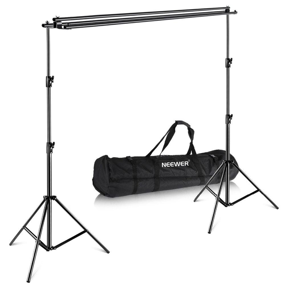 Neewer Triple Background Backdrop Support System+Carrying Case Maximum 10x10 feet/3x3M(Height x Width) for Photography|backdrop support system|for photographybackground backdrop - title=