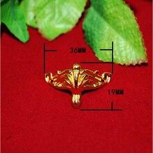 36*19 ММ сплава цинка имитация золота ноги украшены деревянные ящики фиксированной опоры Угол CP207