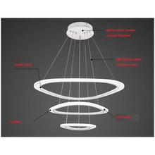 BLUE TIME New Modern pendant lights for living room dining room 4/3/2/1 Circle Rings acrylic LED Lighting ceiling Lamp fixtures