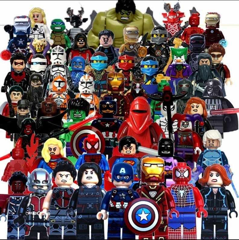 Новые S карты полный Marvel Супер Герой Мстители Человек-паук Бэтмен Железный человек Халк строительные блоки legoinglys набор 20 шт