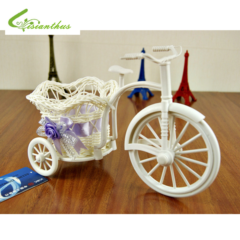 Handmade Rattan Baskets Tricycle Bicycle Home Decor Garden Wedding ...