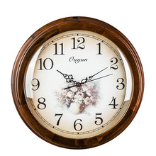 2018 Classical Solid Wood Large Clocks European Retro Quartz Wall Clock Mute Movement Mechanism Art Edge Home Decoration
