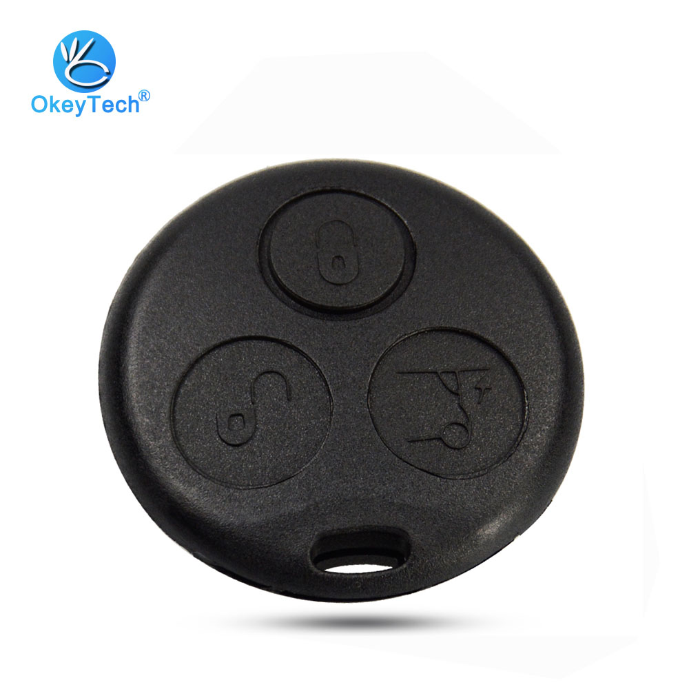 OkeyTech Key Diy Shell for Mercedes Benz MB Smart Fortwo 450 Forfour Roadste 3 Button Key Cover Replacement Fob Case No BladeOkeyTech Key Diy Shell for Mercedes Benz MB Smart Fortwo 450 Forfour Roadste 3 Button Key Cover Replacement Fob Case No Blade