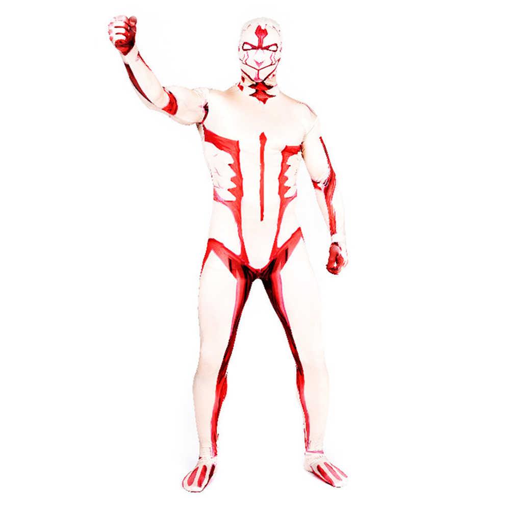 Атака на Титанов бронированные костюмы титана Хэллоуин 3D печатных боди зентай Костюм взрослых мужчин Артура Карри Комбинезоны Косплей