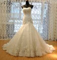 Custom Made Luxurious Corset Mermaid Wedding Dresses Bodice Beaded Top Quality Mermaid 2017 Lace Bridal Gowns