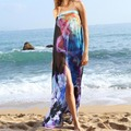 Sexy Women Chiffon Beach Cover Up Dress Sarong Bathing Suit Beach tunic Straps Halter Cover-Ups Beach Wear Scarf Pareo Janu05