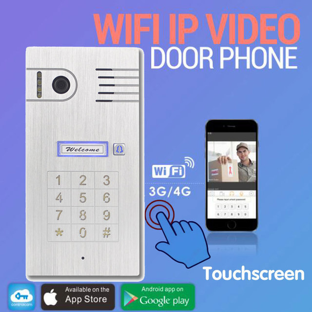 3G WIFI VIDEO DOOR PHONE Touchscreen Aluminum Alloy with android/iOS smart phone and video recording