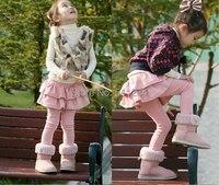 High quality 1Pcs winter style thick girls Leggings & skirt girls trousers children pants