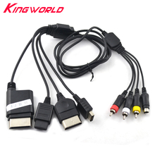 Xunbeifang multifunction Leadwire S-Video AV TV Cord Cable for NGC N64 for PS1 PS2 PS3 for XBOX