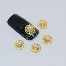BELESHINY 10 Pcs/Lot Manicure Gold Alloy Rhinestones cross For Nails Strass Charms 3D Nail Art Decorations