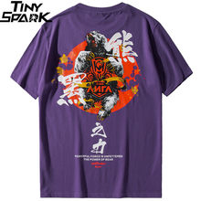 2019 T Shirt Hip Hop Uomo Potente Orso T-Shirt Harajuku Streetwear Maglietta  di Estate Carattere Cinese Della Stampa di Cotone M.. df60212865dc