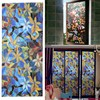 Magnolia Flower Waterproof Anti-UV Wall Stick Privacy Film Textured Floral Security Static Cling For Window Glass Door Stick